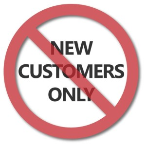 New customers only sign