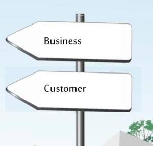Business and customer signpost