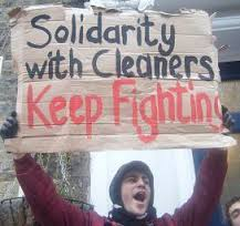 Solidarity with cleaners