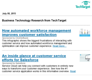 Tech target email